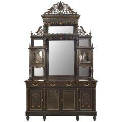 English Ebonized Cupboard Cabinet