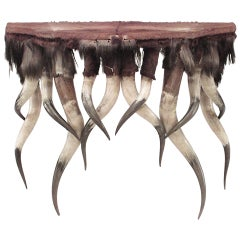 A Unique Horn Design Console Table