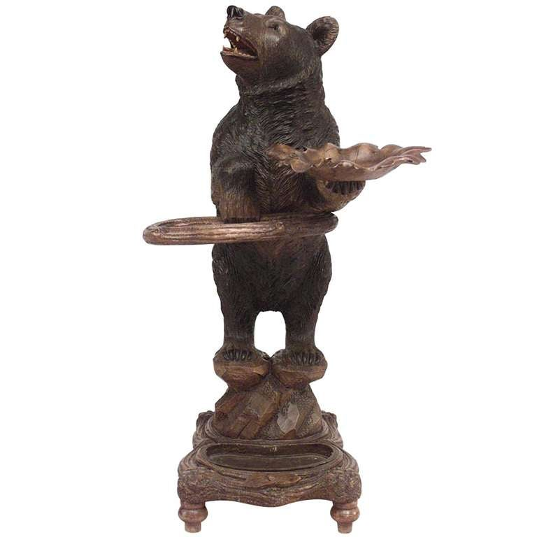 19th C. Black Forest Bear Umbrella Stand