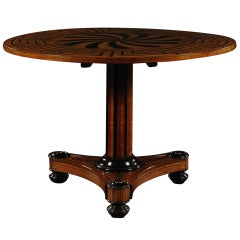 Italian Neoclassic Inlaid Center Table, circa 1820