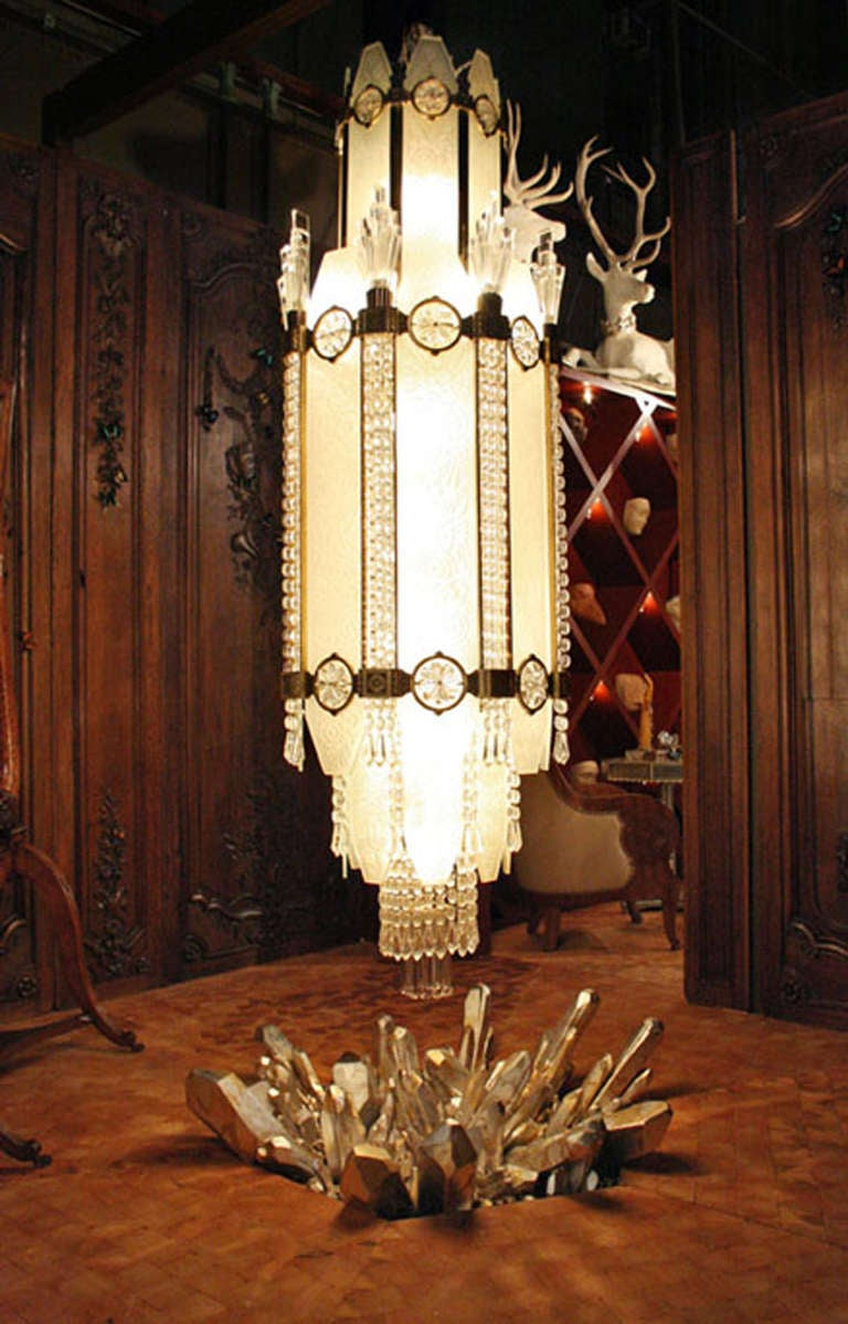 4 important french art deco glass and bronze ballroom chandeliers 4 important french art deco glass bronze ballroom chandeliers 3 arubaitofo Choice Image