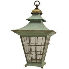 English Georgian Style Copper Hanging Lantern