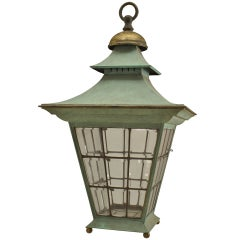 English Georgian Style Copper Hanging Lantern