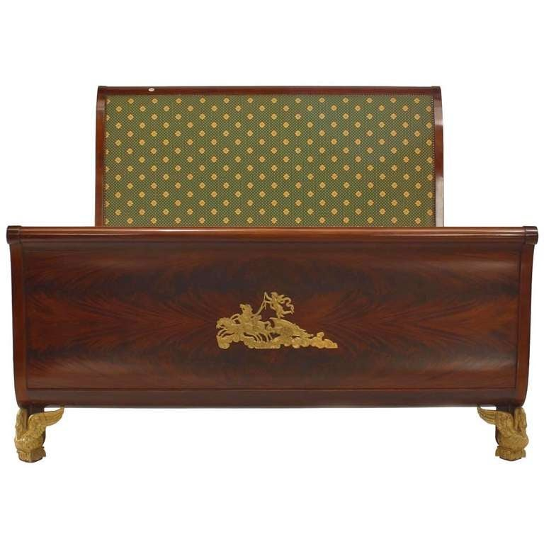 French Empire Style Queen Sized Bed For Sale
