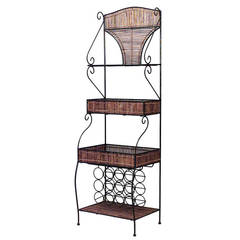 20th c. English Country Style Etagere or Bakery Rack