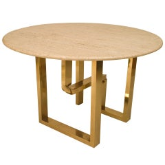 American Brass and Marble Center Table