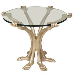 20th c. Mexican Surrealist End Table by Pedro Friedeberg