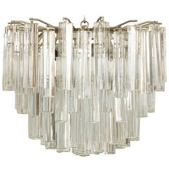 20th Century Scandinavian Tiered Crystal Chandelier by Camer Glass