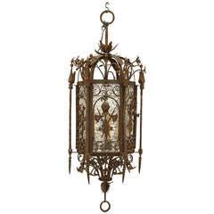 Italian Renaissance Style Hanging Lantern Attributed to Samuel Yellin