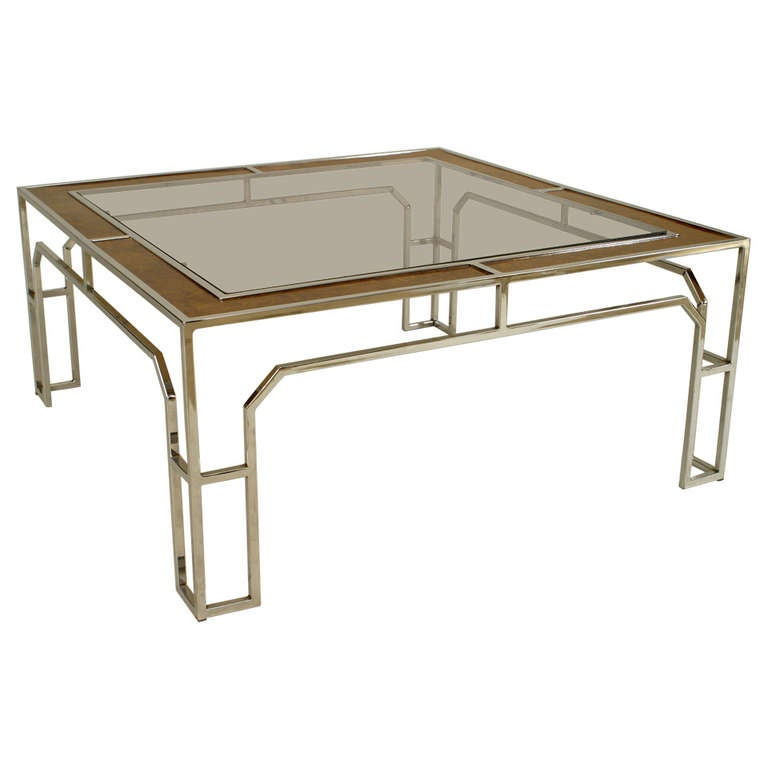 1970 39 S Chrome Coffee Table By Milo Baughman At 1stdibs