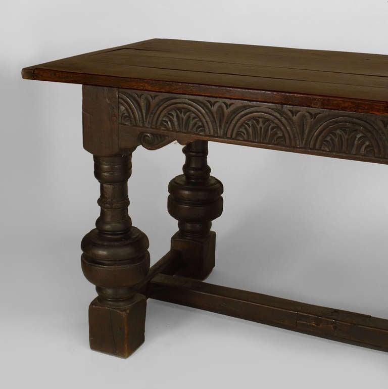 Oak Refectory Tables For Sale ... Renaissance Style Carved Oak Refectory Table For Sale at 1stdibs