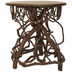Turn of the Century American Adirondack Twig End Table