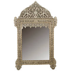 20th Century Middle Eastern Pearl-Inlaid Wall Mirror