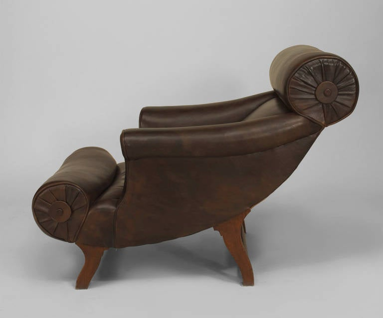 Arts and Crafts Late 19th Century English Lounge Chair by William Birch for Hampton & Son For Sale