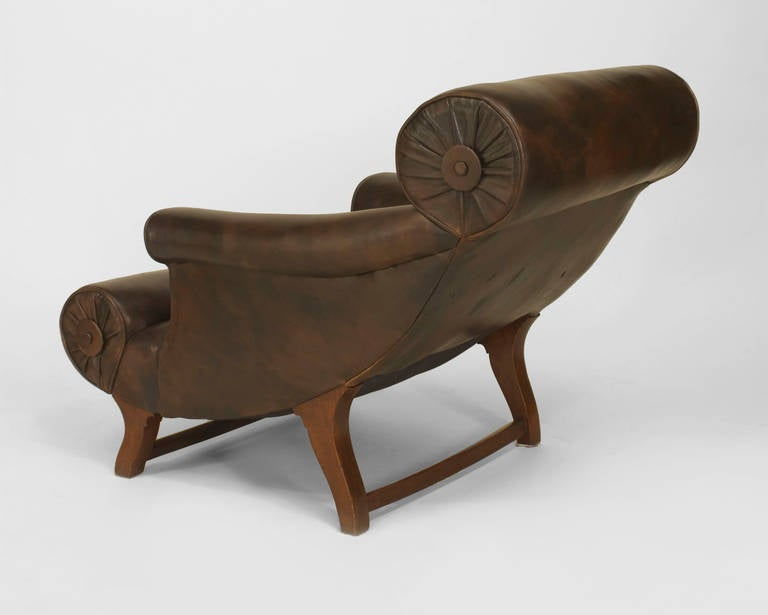 British Late 19th Century English Lounge Chair by William Birch for Hampton & Son For Sale
