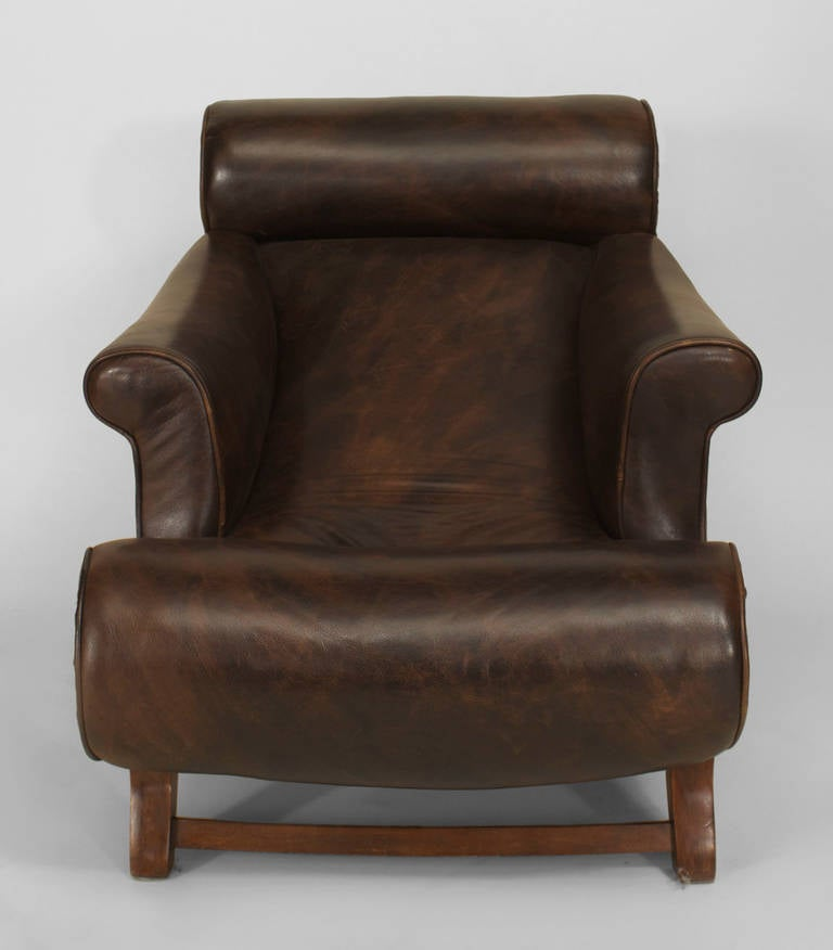Late 19th Century English Lounge Chair by William Birch for Hampton & Son In Good Condition For Sale In New York, NY