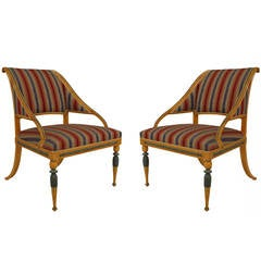 Pair of Late 18th or Early 19th c. Swedish Neoclassical Armchairs
