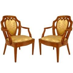 Pair of Turn of the Century Swedish Biedermeier Style Armchairs