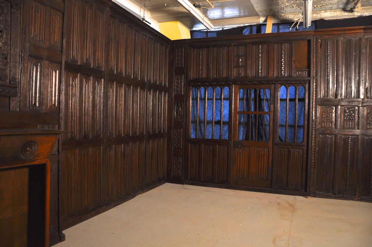 Oak Paneled Rooms : Rare tudor oak paneled room for sale at stdibs