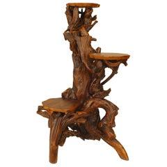 American Adirondack Style Root Pedestal