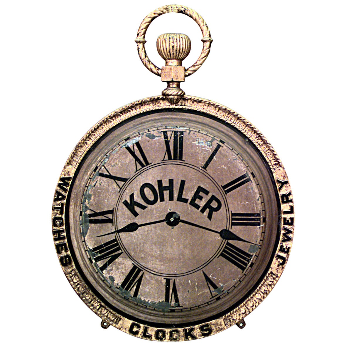 19th c. American Country Painted Tole Hanging Pocket Watch ...