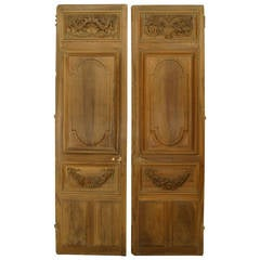 Pair of French Carved Wood Doors