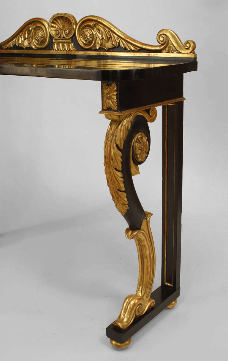 Pair of william iv gilt trimmed consoles for sale at 1stdibs for 123 william street 19th floor new york ny 10038