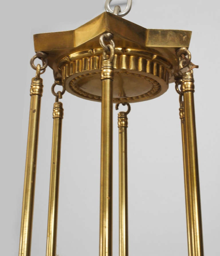 French Art Deco Chandelier by Atelier Vincent In Excellent Condition For Sale In New York, NY