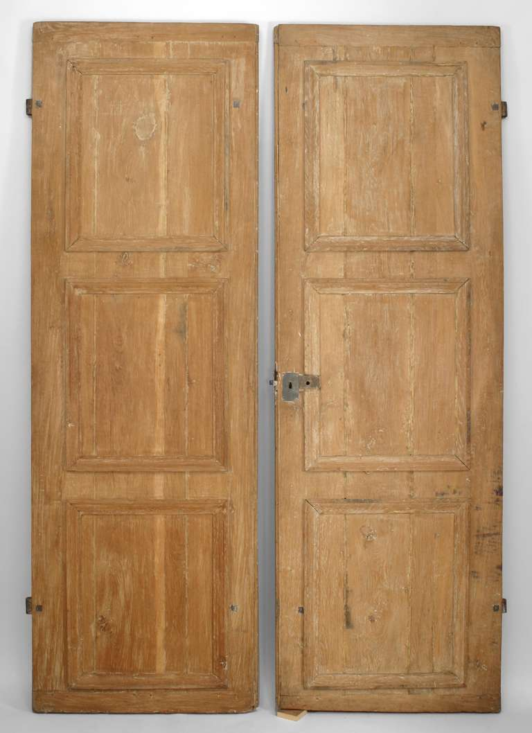 French Provincial Stripped Pine Doors For Sale & Pair of 19th c. French Provincial Stripped Pine Doors For Sale at ...