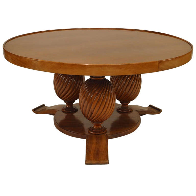 French Art Deco Mahogany Coffee Table At 1stdibs