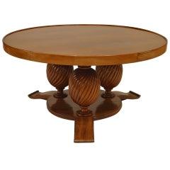 French Art Deco Mahogany Coffee Table