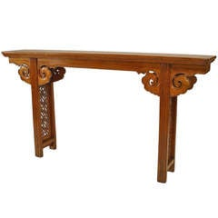 Intricately Carved 18th c. Chinese Console Table