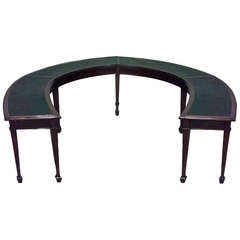 Large 19th c. English Horseshoe-Shaped Mahogany Table