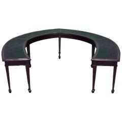 Large 19th c. English Horseshoe-Shaped Mahogany Table