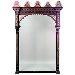 Middle Eastern Style Red and Gold Painted Archway