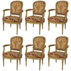 French Louis XVI Armchairs with Original Upholstery (circa 1795)