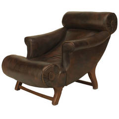 Late 19th Century English Lounge Chair by William Birch for Hampton & Son