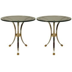 Pair of 1950's French End Tables by Jansen