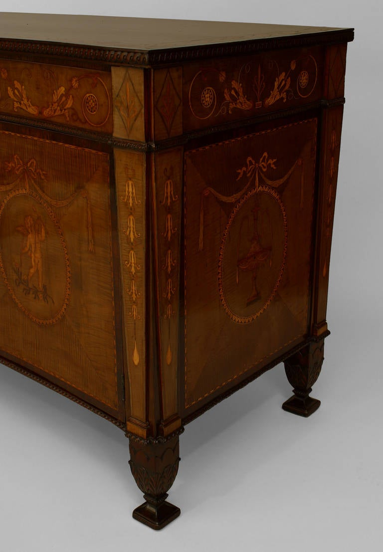 18th century english adam style inlaid commode attributed. Black Bedroom Furniture Sets. Home Design Ideas
