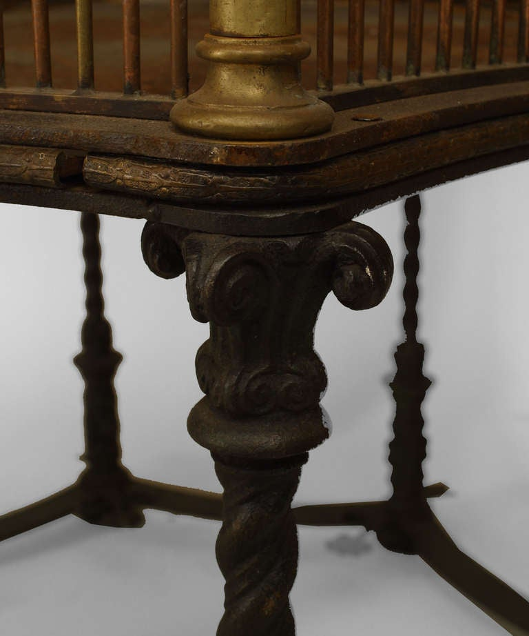 Bronze 19th c. English Monumental Birdcage Patented by Henry Jones For Sale