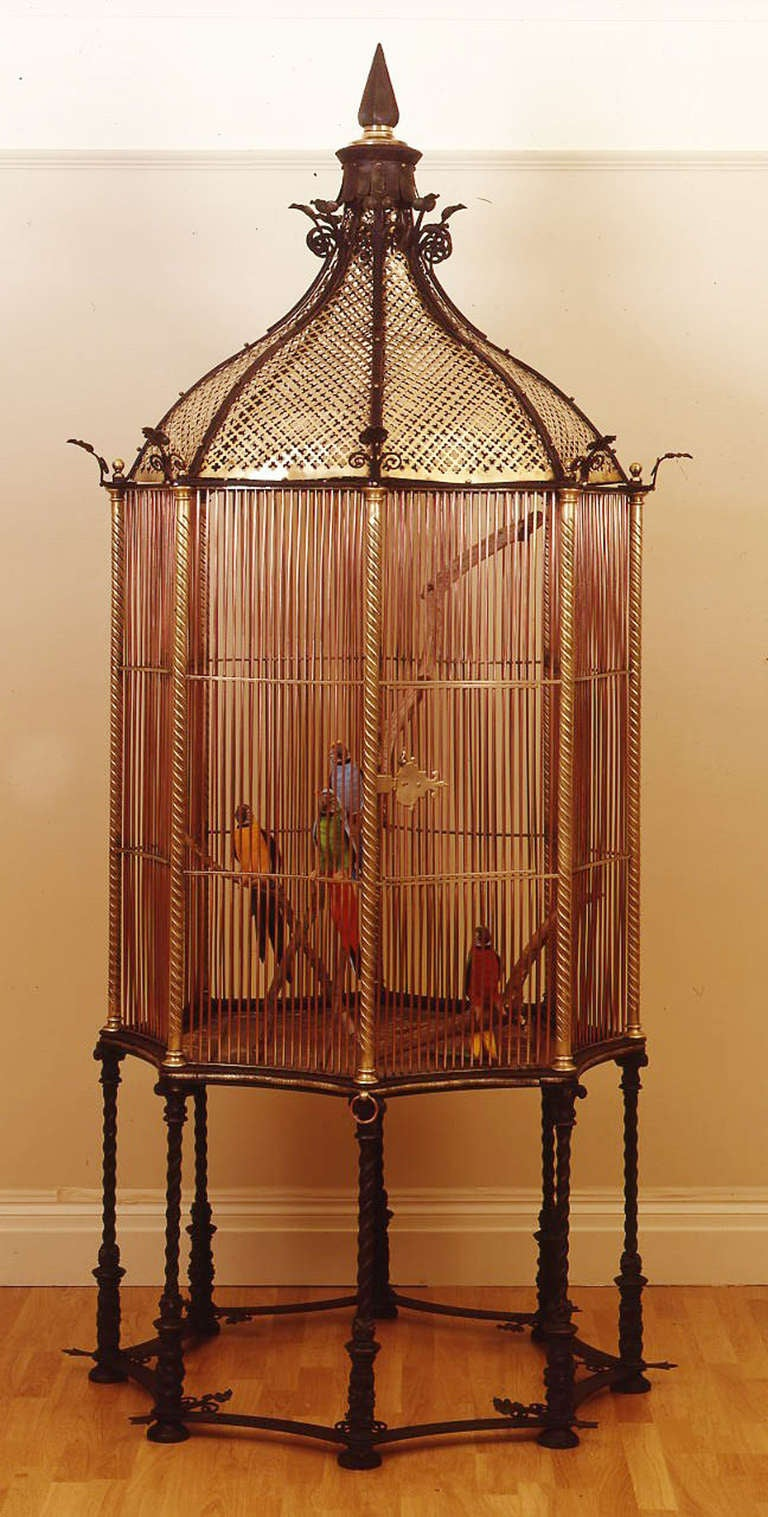 Victorian 19th c. English Monumental Birdcage Patented by Henry Jones For Sale