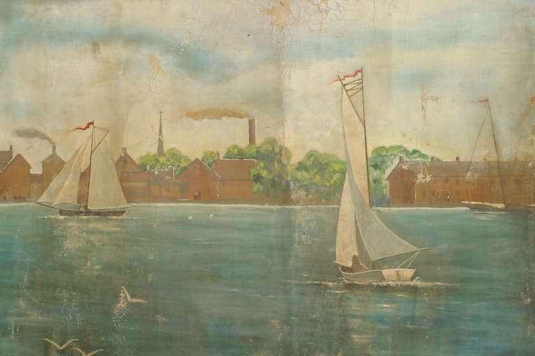 American Colonial Monumental and Important 19th c. New York Harbor Panorama For Sale