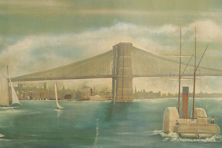 American Monumental and Important 19th c. New York Harbor Panorama For Sale