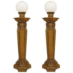 Pair of Turn of the Century Neoclassical Torchieres