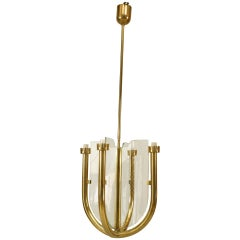 1930s Italian Chandelier Attributed to Guglielmo Ulrich
