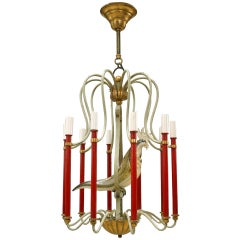 1940's French Bird Chandelier, Attributed to Baguès