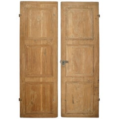 Pair of 19th c. French Provincial Stripped Pine Doors