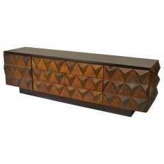 Low 1960s Italian Copper Pyramid Sideboard