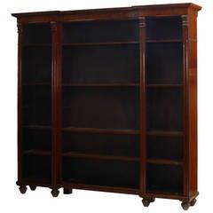 English William IV 3-Section Mahogany Bookcase, c. 1840