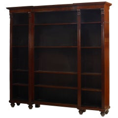 English William IV 3-Section Mahogany Bookcase, c. 1840